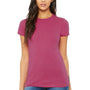Bella + Canvas Womens Berry Pink The Favorite Short Sleeve Crewneck T-Shirt