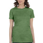 Bella + Canvas Womens Heather Green The Favorite Short Sleeve Crewneck T-Shirt
