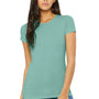 Bella + Canvas Womens Seafoam Blue The Favorite Short Sleeve Crewneck T-Shirt