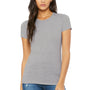 Bella + Canvas Womens Heather Grey The Favorite Short Sleeve Crewneck T-Shirt