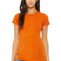 Bella + Canvas Womens Orange The Favorite Short Sleeve Crewneck T-Shirt