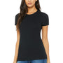 Bella + Canvas Womens Black The Favorite Short Sleeve Crewneck T-Shirt