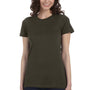 Bella + Canvas Womens Army Green The Favorite Short Sleeve Crewneck T-Shirt