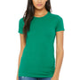 Bella + Canvas Womens Kelly Green The Favorite Short Sleeve Crewneck T-Shirt