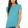 Bella + Canvas Womens Turquoise Blue The Favorite Short Sleeve Crewneck T-Shirt
