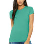 Bella + Canvas Womens Teal Green The Favorite Short Sleeve Crewneck T-Shirt