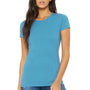 Bella + Canvas Womens Heather Aqua Blue The Favorite Short Sleeve Crewneck T-Shirt