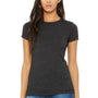 Bella + Canvas Womens Heather Dark Grey The Favorite Short Sleeve Crewneck T-Shirt
