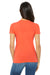 Bella + Canvas 6004 Womens The Favorite Short Sleeve Crewneck T-Shirt Coral Orange Back