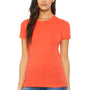 Bella + Canvas Womens Coral The Favorite Short Sleeve Crewneck T-Shirt