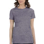 Bella + Canvas Womens Heather Purple The Favorite Short Sleeve Crewneck T-Shirt