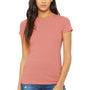 Bella + Canvas Womens Heather Pink The Favorite Short Sleeve Crewneck T-Shirt