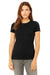 Bella + Canvas 6004 Womens The Favorite Short Sleeve Crewneck T-Shirt Heather Black Front