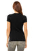 Bella + Canvas 6004 Womens The Favorite Short Sleeve Crewneck T-Shirt Heather Black Back