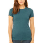 Bella + Canvas Womens Heather Deep Teal Blue The Favorite Short Sleeve Crewneck T-Shirt