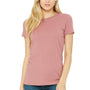 Bella + Canvas Womens Mauve The Favorite Short Sleeve Crewneck T-Shirt
