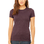 Bella + Canvas Womens Heather Maroon The Favorite Short Sleeve Crewneck T-Shirt