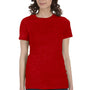 Bella + Canvas Womens Heather Red The Favorite Short Sleeve Crewneck T-Shirt
