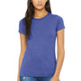 Bella + Canvas Womens Heather True Royal Blue The Favorite Short Sleeve Crewneck T-Shirt