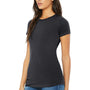 Bella + Canvas Womens Dark Grey The Favorite Short Sleeve Crewneck T-Shirt