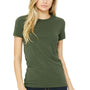 Bella + Canvas Womens Military Green The Favorite Short Sleeve Crewneck T-Shirt
