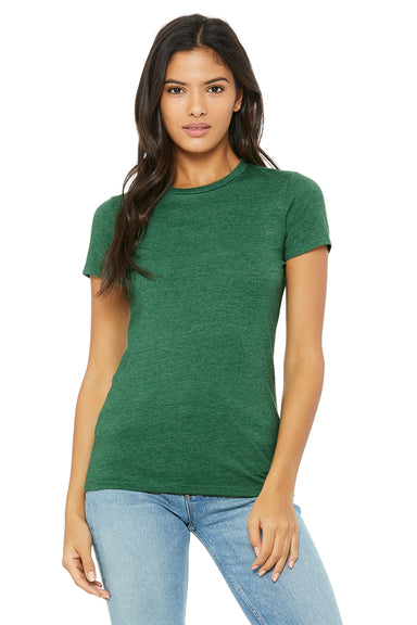 Bella + Canvas 6004 Womens The Favorite Short Sleeve Crewneck T-Shirt Heather Grass Green Front