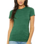 Bella + Canvas Womens Heather Grass Green The Favorite Short Sleeve Crewneck T-Shirt