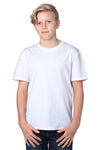 Threadfast Apparel 600A Youth Ultimate Short Sleeve Crewneck T-Shirt White Front