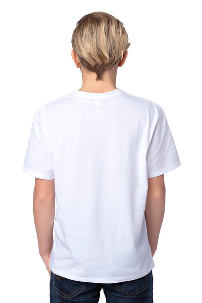 Threadfast Apparel 600A Youth Ultimate Short Sleeve Crewneck T-Shirt White Back