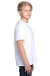 Threadfast Apparel 600A Youth Ultimate Short Sleeve Crewneck T-Shirt White Side