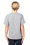 Threadfast Apparel 600A Youth Ultimate Short Sleeve Crewneck T-Shirt Heather Grey Back