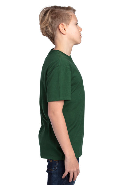 Threadfast Apparel 600A Youth Ultimate Short Sleeve Crewneck T-Shirt Forest Green Side
