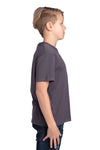 Threadfast Apparel 600A Youth Ultimate Short Sleeve Crewneck T-Shirt Graphite Grey Side