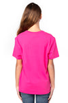 Threadfast Apparel 600A Youth Ultimate Short Sleeve Crewneck T-Shirt Hot Pink Back