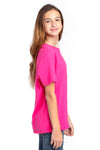 Threadfast Apparel 600A Youth Ultimate Short Sleeve Crewneck T-Shirt Hot Pink Side