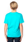 Threadfast Apparel 600A Youth Ultimate Short Sleeve Crewneck T-Shirt Pacific Blue Back