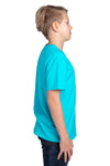 Threadfast Apparel 600A Youth Ultimate Short Sleeve Crewneck T-Shirt Pacific Blue Side