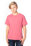 Threadfast Apparel 600A Youth Ultimate Short Sleeve Crewneck T-Shirt Heather Red Front