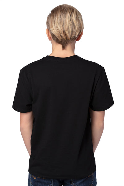 Threadfast Apparel 600A Youth Ultimate Short Sleeve Crewneck T-Shirt Black Back