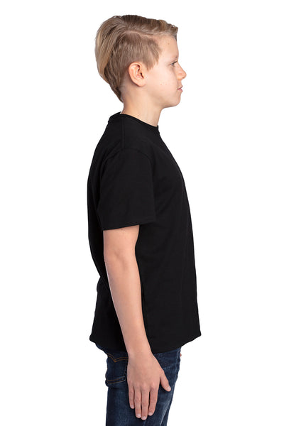 Threadfast Apparel 600A Youth Ultimate Short Sleeve Crewneck T-Shirt Black Side