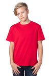 Threadfast Apparel 600A Youth Ultimate Short Sleeve Crewneck T-Shirt Red Front