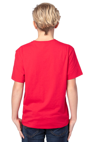 Threadfast Apparel 600A Youth Ultimate Short Sleeve Crewneck T-Shirt Red Back
