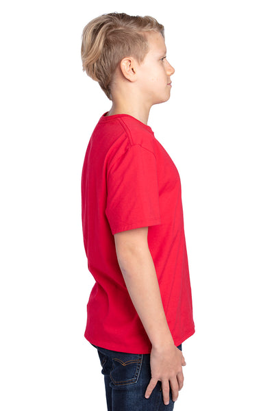 Threadfast Apparel 600A Youth Ultimate Short Sleeve Crewneck T-Shirt Red Side