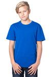 Threadfast Apparel 600A Youth Ultimate Short Sleeve Crewneck T-Shirt Royal Blue Front