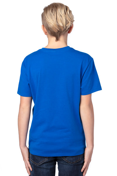 Threadfast Apparel 600A Youth Ultimate Short Sleeve Crewneck T-Shirt Royal Blue Back