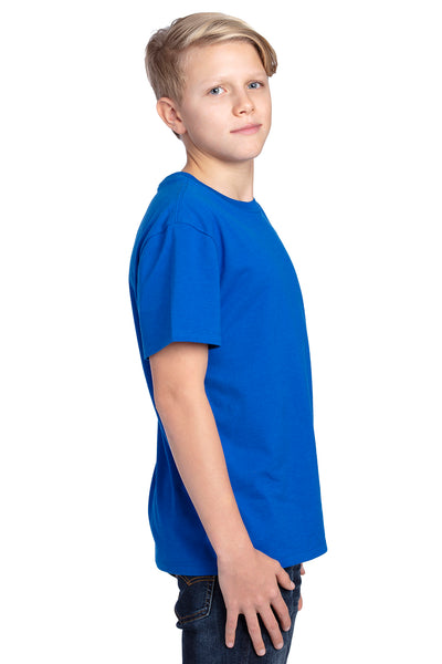 Threadfast Apparel 600A Youth Ultimate Short Sleeve Crewneck T-Shirt Royal Blue Side