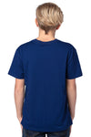 Threadfast Apparel 600A Youth Ultimate Short Sleeve Crewneck T-Shirt Navy Blue Back