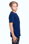 Threadfast Apparel 600A Youth Ultimate Short Sleeve Crewneck T-Shirt Navy Blue Side