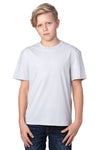 Threadfast Apparel 600A Youth Ultimate Short Sleeve Crewneck T-Shirt Silver Grey Front