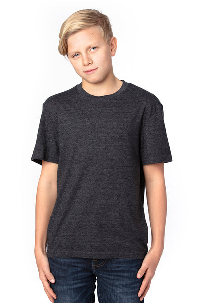 Threadfast Apparel 602A Youth Short Sleeve Crewneck T-Shirt Black Front